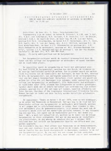 Raadsnotulen Heemstede 1987-12-16