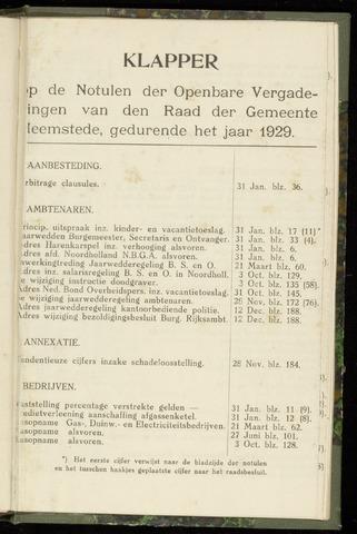 Raadsnotulen Heemstede 1929-01-01