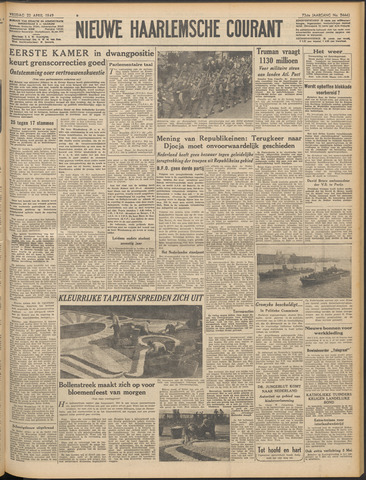 Nieuwe Haarlemsche Courant 1949-04-22