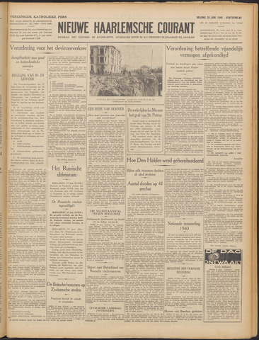 Nieuwe Haarlemsche Courant 1940-06-28