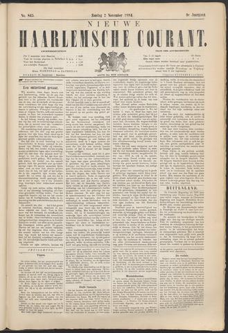 Nieuwe Haarlemsche Courant 1884-11-02