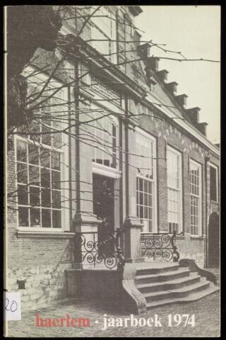 Jaarverslagen en Jaarboeken Vereniging Haerlem 1974
