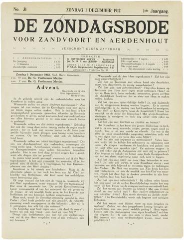 De Zondagsbode voor Zandvoort en Aerdenhout 1912-12-01