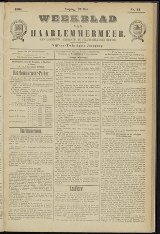 Weekblad van Haarlemmermeer 1884-05-23