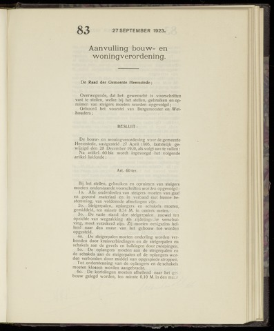 Raadsnotulen Heemstede 1923-09-27
