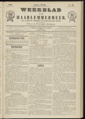 Weekblad van Haarlemmermeer 1881-05-20