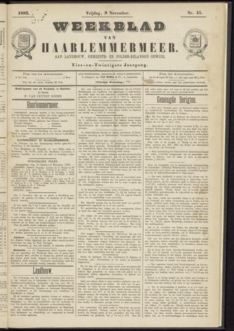 Weekblad van Haarlemmermeer 1883-11-09