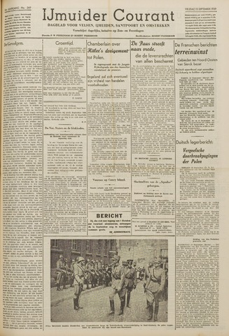 IJmuider Courant 1939-09-15