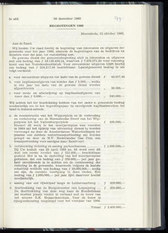 Raadsnotulen Heemstede 1965-12-16