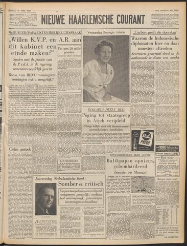 Nieuwe Haarlemsche Courant 1958-04-29