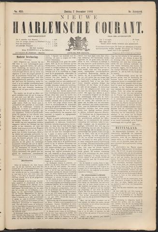 Nieuwe Haarlemsche Courant 1884-12-07