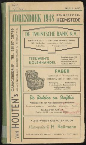 Adresboeken Heemstede, Bennebroek 1948