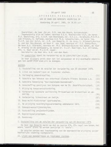 Raadsnotulen Heemstede 1980-04-24