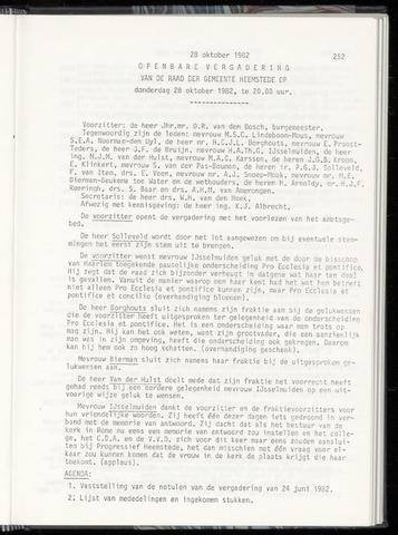 Raadsnotulen Heemstede 1982-10-28