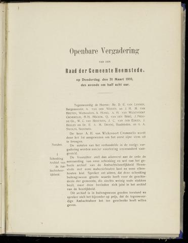 Raadsnotulen Heemstede 1910-03-31