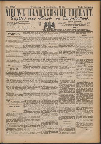Nieuwe Haarlemsche Courant 1905-09-13