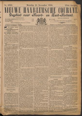 Nieuwe Haarlemsche Courant 1898-11-21