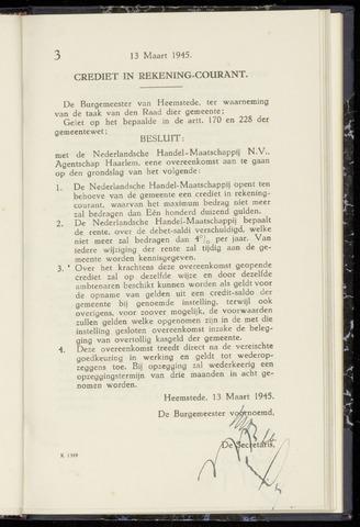 Raadsnotulen Heemstede 1945-03-13
