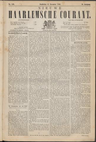 Nieuwe Haarlemsche Courant 1881-12-22