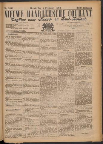Nieuwe Haarlemsche Courant 1903-02-05