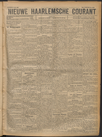 Nieuwe Haarlemsche Courant 1921-07-09