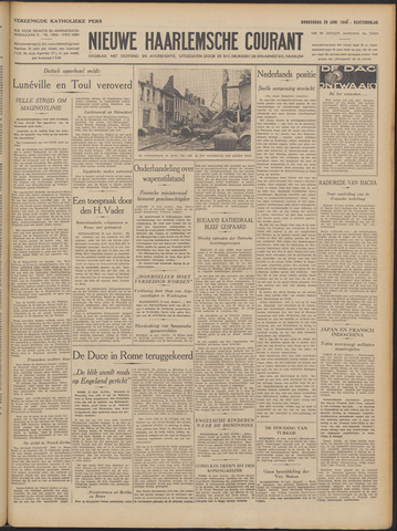 Nieuwe Haarlemsche Courant 1940-06-20