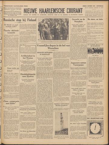 Nieuwe Haarlemsche Courant 1939-10-08