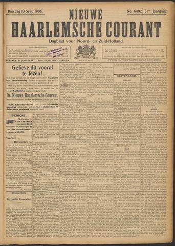 Nieuwe Haarlemsche Courant 1906-09-18