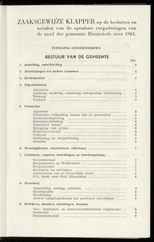 Raadsnotulen Heemstede 1961