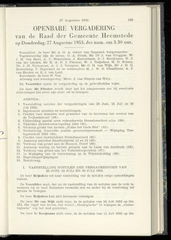 Raadsnotulen Heemstede 1953-08-27