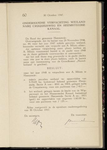 Raadsnotulen Heemstede 1947-10-30