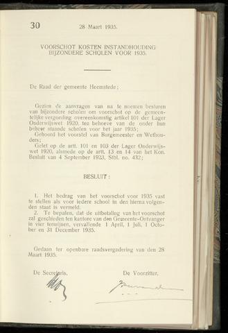 Raadsnotulen Heemstede 1935-03-28