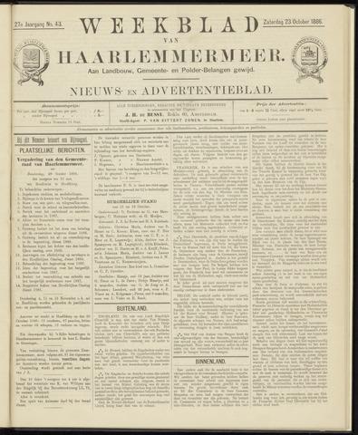 Weekblad van Haarlemmermeer 1886-10-23
