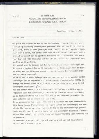 Raadsnotulen Heemstede 1985-03-28