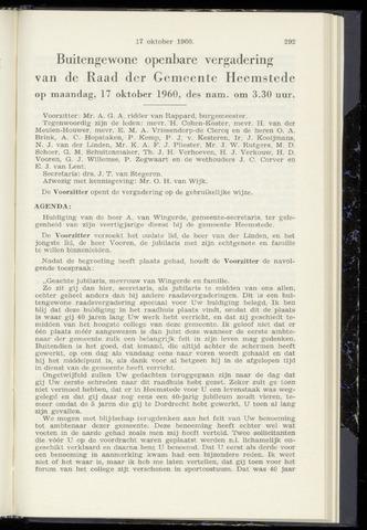 Raadsnotulen Heemstede 1960-10-17