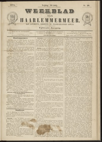 Weekblad van Haarlemmermeer 1874-07-10