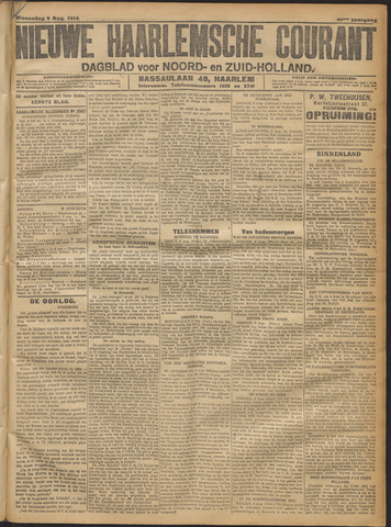 Nieuwe Haarlemsche Courant 1916-08-09