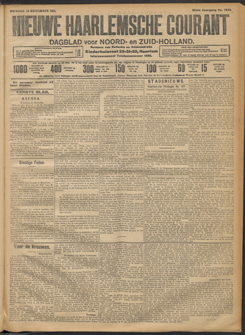 Nieuwe Haarlemsche Courant 1911-11-14