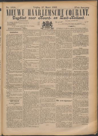 Nieuwe Haarlemsche Courant 1903-03-27