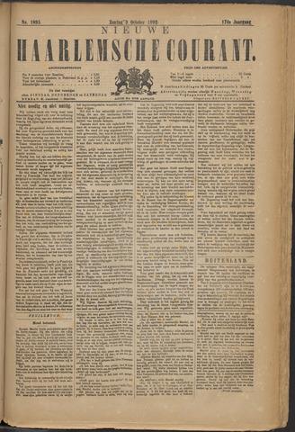 Nieuwe Haarlemsche Courant 1892-10-09