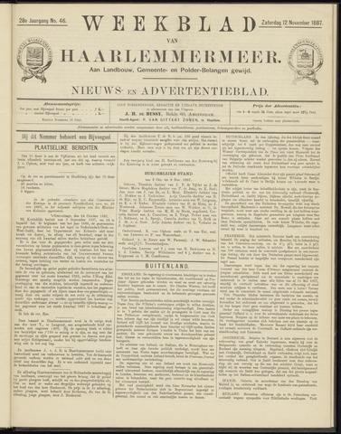 Weekblad van Haarlemmermeer 1887-11-12