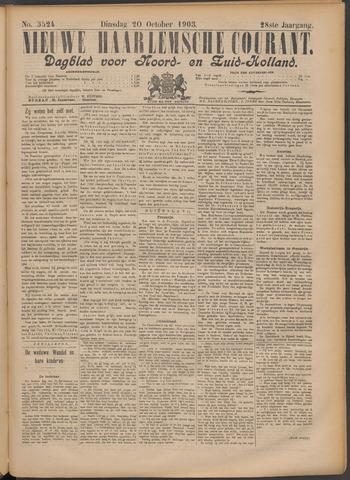 Nieuwe Haarlemsche Courant 1903-10-20