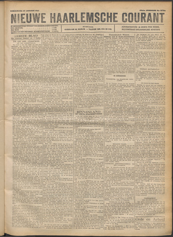 Nieuwe Haarlemsche Courant 1921-01-27