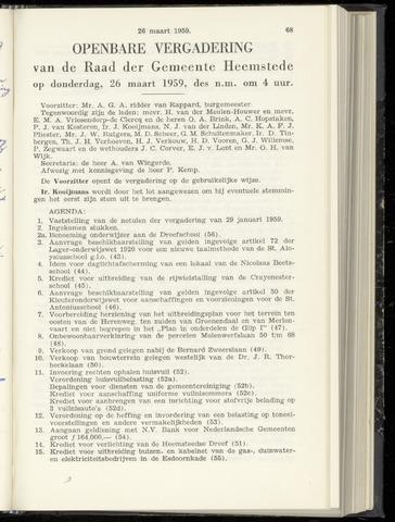 Raadsnotulen Heemstede 1959-03-26