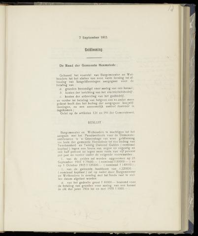 Raadsnotulen Heemstede 1915-09-07