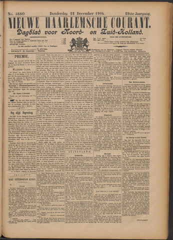 Nieuwe Haarlemsche Courant 1904-12-22