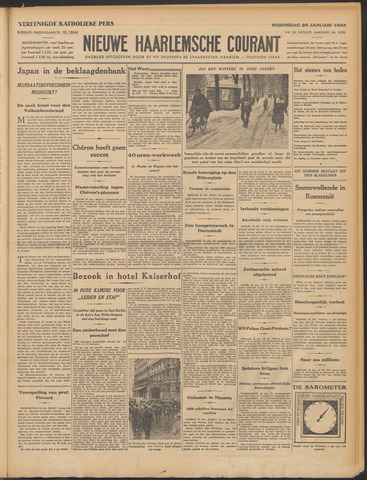 Nieuwe Haarlemsche Courant 1933-01-25