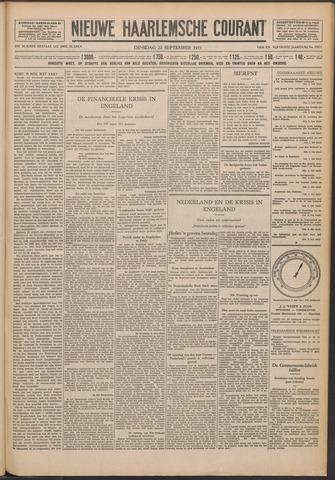 Nieuwe Haarlemsche Courant 1931-09-22
