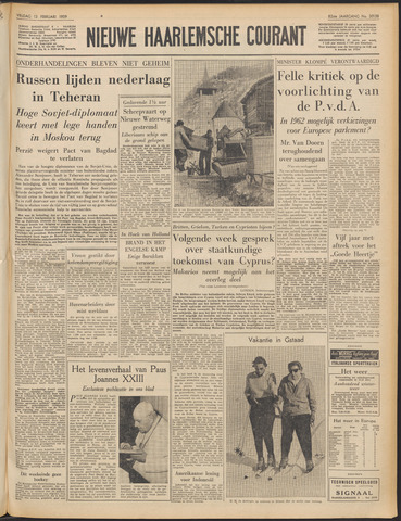 Nieuwe Haarlemsche Courant 1959-02-13