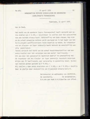 Raadsnotulen Heemstede 1978-04-27